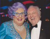 with Dame Edna 2010