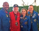 with astronauts Leland Melvin, Anousheh Ansari and Ron Garan New York 2016