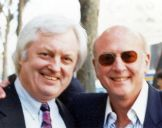 with songwriter Mike Stoller (of Leiber and Stoller) 1988
