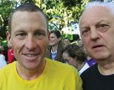 with Lance Armstrong, Adelaide 2009